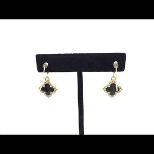 DX Jewelry - Gold metal earrings with crystals